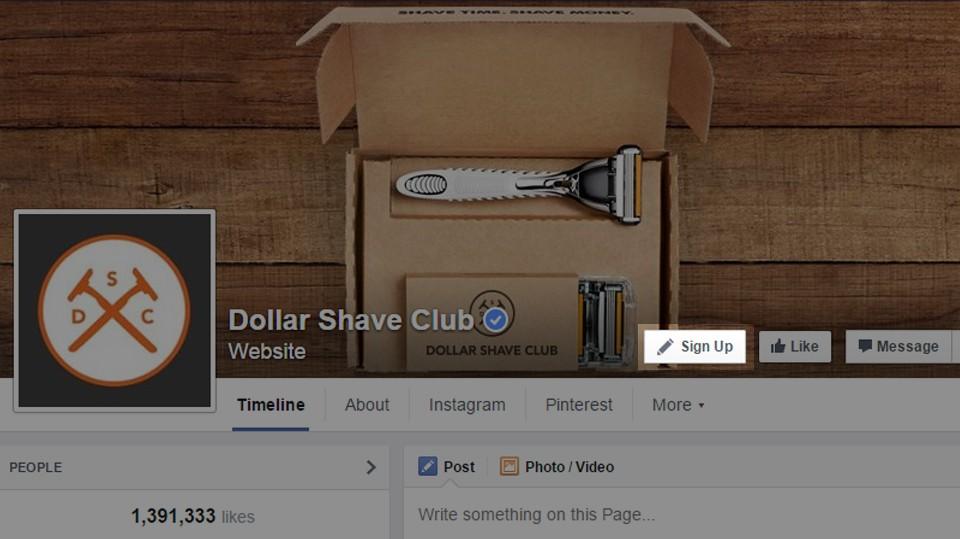 Botões call-to-action disponíveis no Facebook