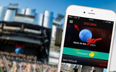Rock in Rio em versão mobile.